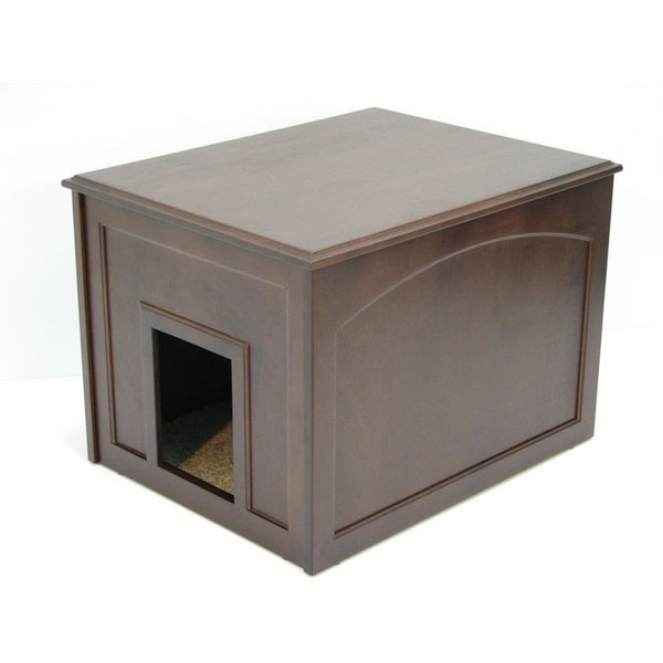 Crown Pet Dog Den Cabinet with Espresso Finish