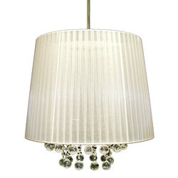 Warehouse of Tiffany White Ice Crystal Hanging Lamp