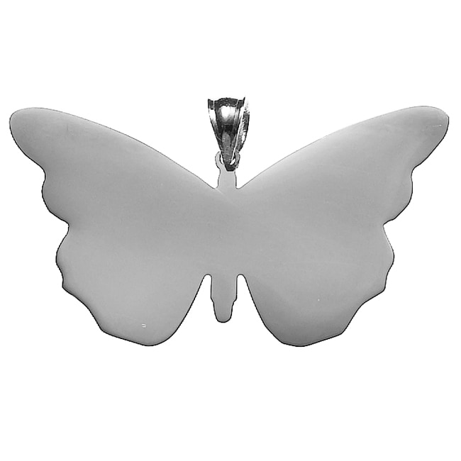 White Trash Charms Sterling Silver Small Butterfly Necklace