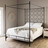 The Curated Nomad Quatrefoil Queen Canopy Bed