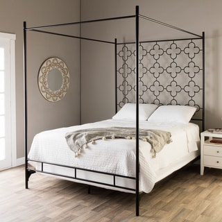 The Curated Nomad Flatiron Quatrefoil Queen Canopy Bed & Queen Size Canopy Bed For Less | Overstock.com