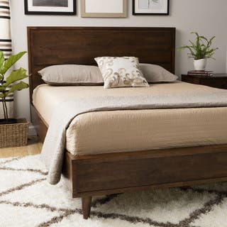 vilas platform full size mid century style bed - Mid Century Bed Frame