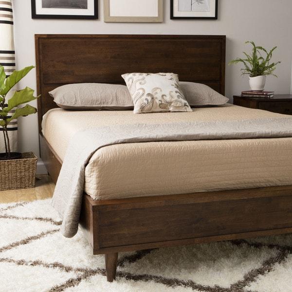 Mid Century Bed Mid Century: Shop Vilas Platform Full Size Mid-century Style Bed