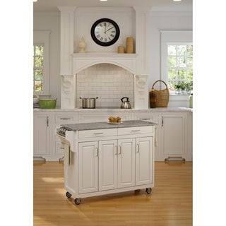 Home Styles Create-a-Cart White Granite Top