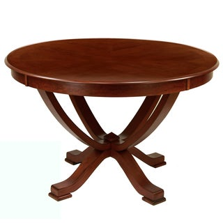 Furniture of America Primrose Brown Cherry Finish Round Dining Table - Cherry Brown