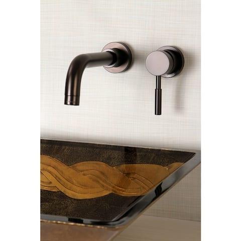 Wall Mount Oil Rubbed Bronze Single Handle Bathroom Faucet