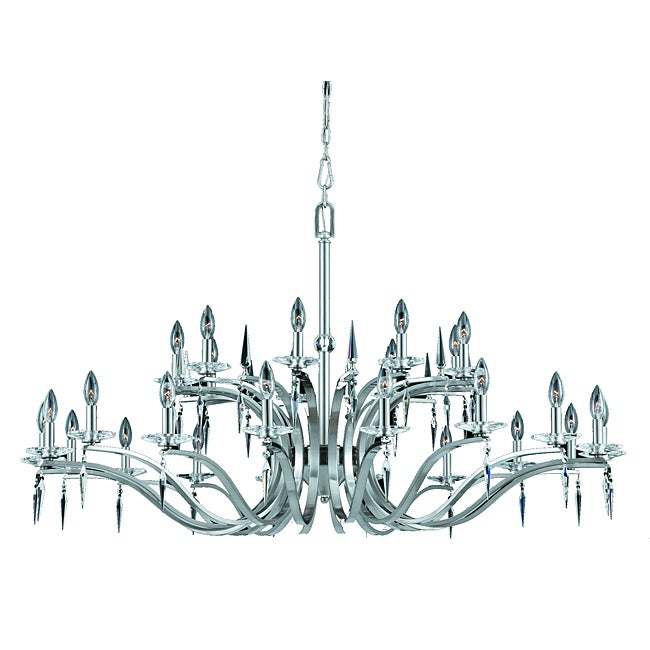 Swan 27-light Satin Nickel Chandelier
