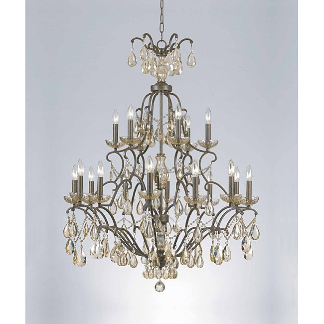 Versailles 18-light Aged Bronze Chandelier - Thumbnail 0