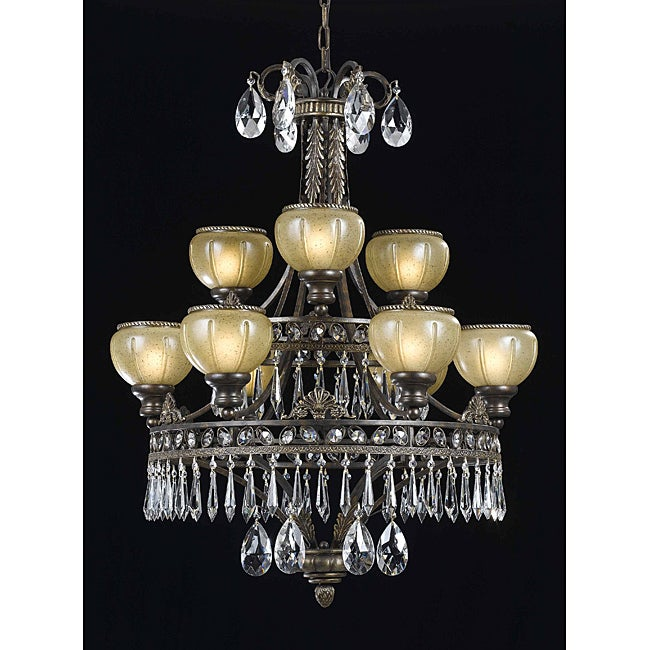 Le Grandeur 9-light English Bronze Chandelier