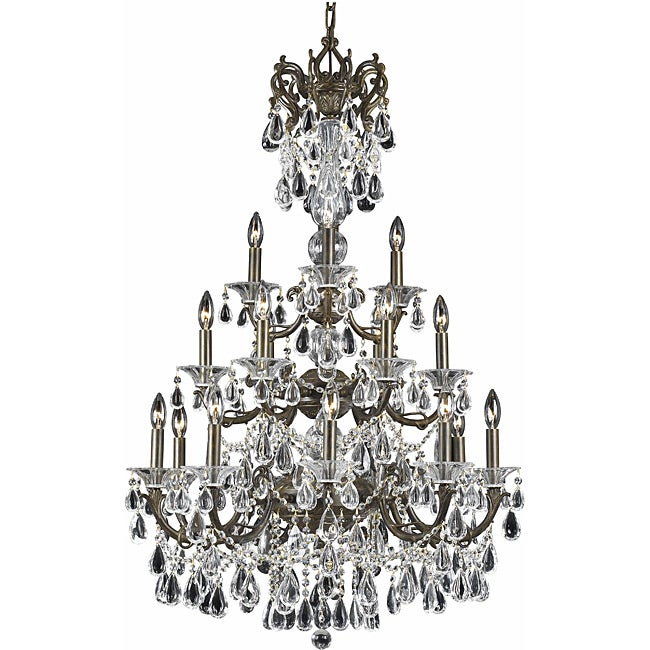 Renaissance 18-light English Bronze Chandelier