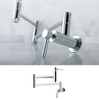 Contemporary Chrome Wallmount Pot-filler Kitchen Faucet