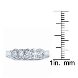 14k White Gold 1/2ct TDW Diamond Band (H-I, I1-I2) - Thumbnail 2