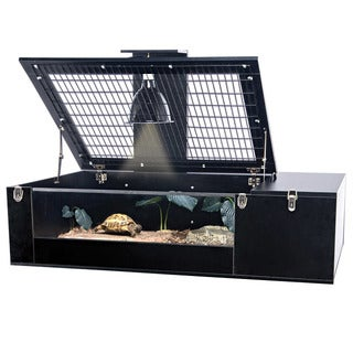 Penn Plax Tortoise Palace with Wire Top