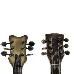 ... Strings Rock The World Metal Guitar Wall Art Decor (Set Of 2)