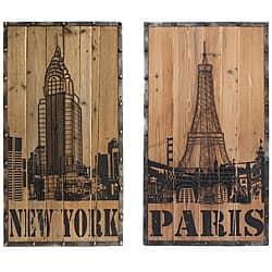Casa Cortes New York/ Paris Connection Wall Art (Set of 2)|https://ak1.ostkcdn.com/images/products/6613929/Casa-Cortes-New-York-Paris-Connection-Wall-Art-Set-of-2-P14182387.jpg?impolicy=medium