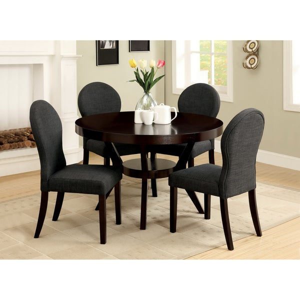 Furniture of america magnolia 5 piece espresso finish for Dining room furniture 0 finance
