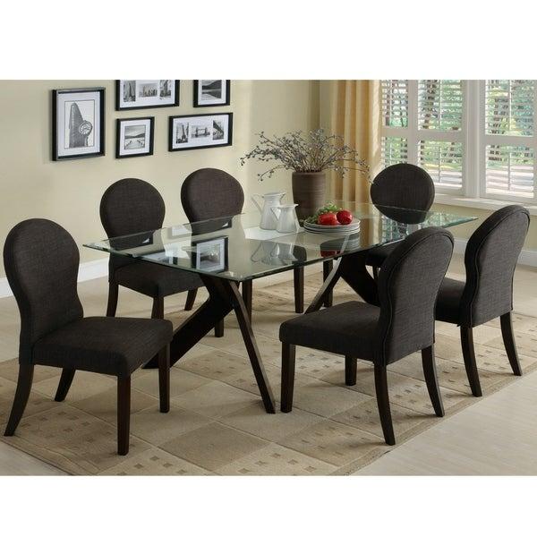Shop Furniture Of America Lova Modern Brown Solid Wood 7