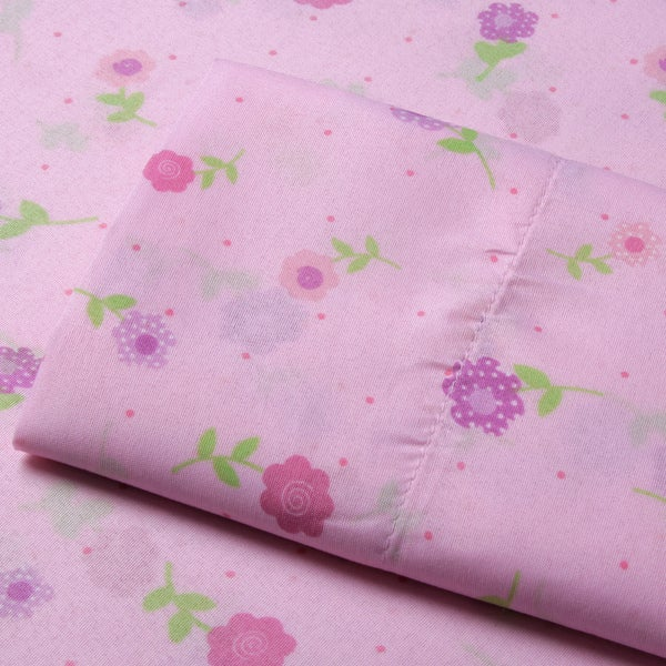 Your Decor Microfiber Dotted Flowers Sheet Set