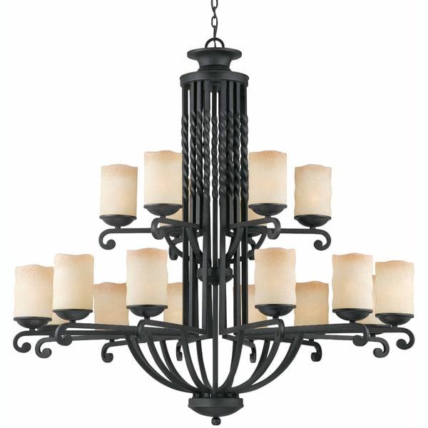 Granada 18-light Blacksmith Bronze Chandelier