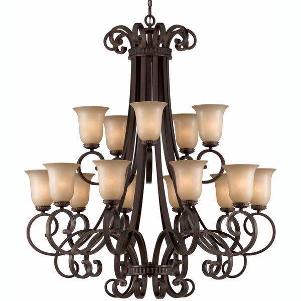 Corsica 15-light English Bronze Chandelier