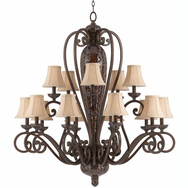 Jewelry 15-light Harvest Bronze Chandelier