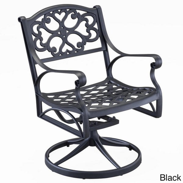 Biscayne Cast Aluminum Outdoor Swivel Chair By Home Styles   Free Shipping  Today   Overstock.com   14182686