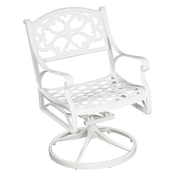 Biscayne Cast Aluminum Outdoor Swivel Chair By Home Styles