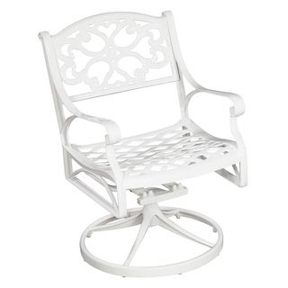 Home Styles Biscayne Cast Aluminum Outdoor Swivel Chair