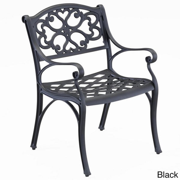Biscayne Cast Aluminum White Outdoor Arm Chairs (Set Of 2) By Home Styles    Free Shipping Today   Overstock.com   14182687