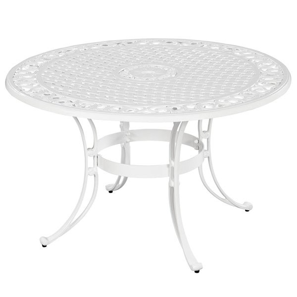 Biscayne Cast Aluminum 42 Inch Outdoor Dining Table By Home Styles