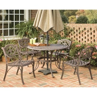 Biscayne Cast Aluminum Bronze 5-piece 48-inch Patio Dining Set by Home Styles