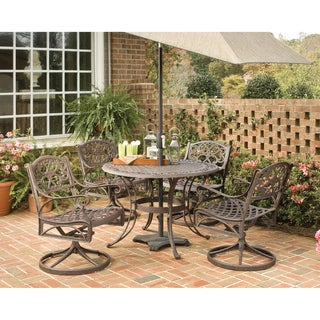 Biscayne Cast Aluminum Bronze 5-piece 42-inch Patio Dining Set by Home Styles