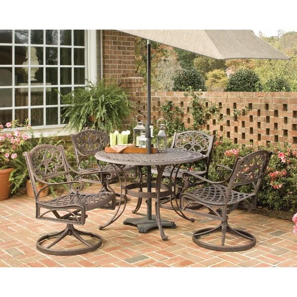shop biscayne cast aluminum bronze 5 piece 42 inch patio dining set rh overstock com Biscayne Patio Set Walmart Biscayne Chairs