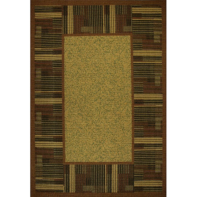 Somette Tufted Sisal Printed Brown/Beige Indoor/Outdoor Area Rug (5' x 7')
