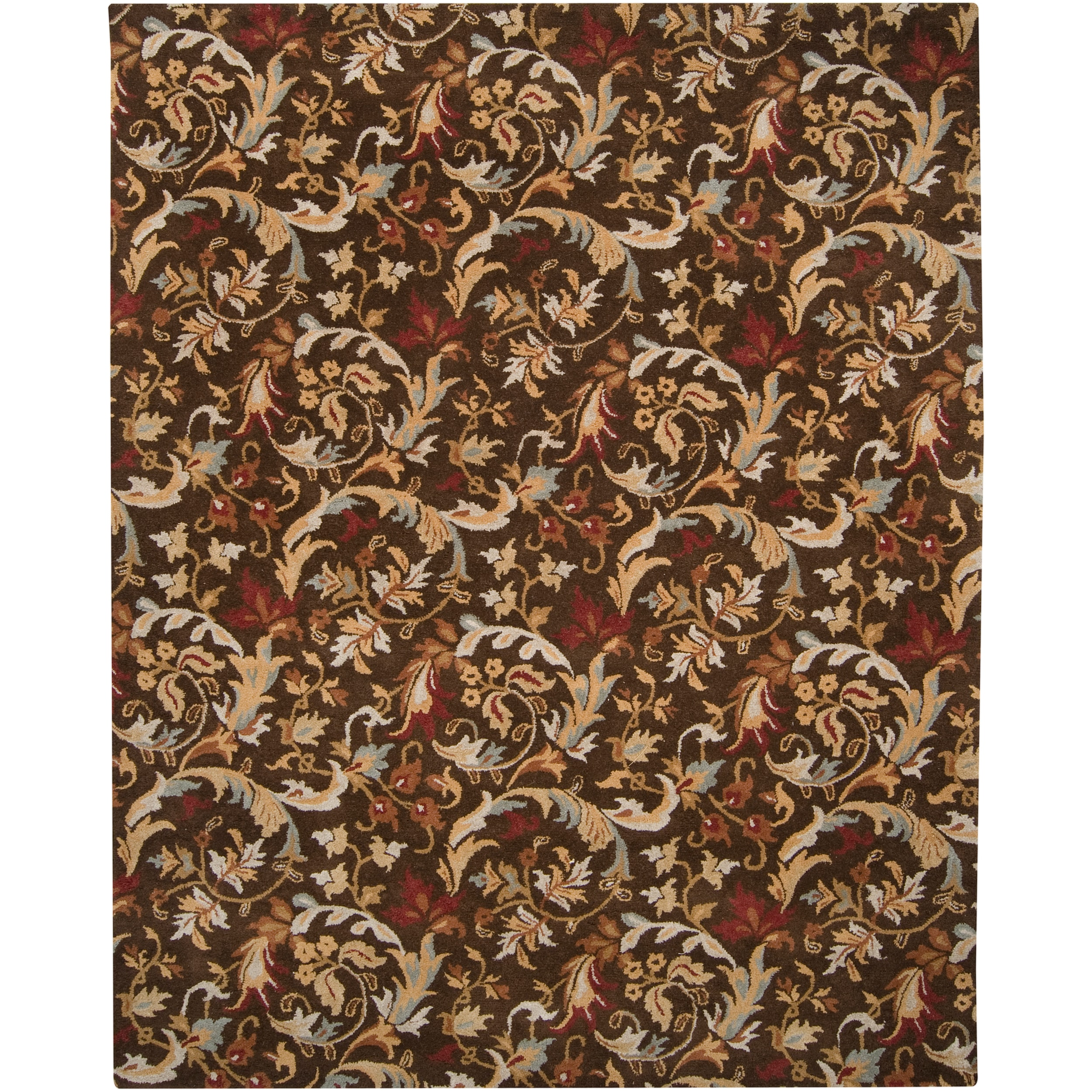Hand-tufted Brown Chauvin Wool Rug (3'3 x 5'3)