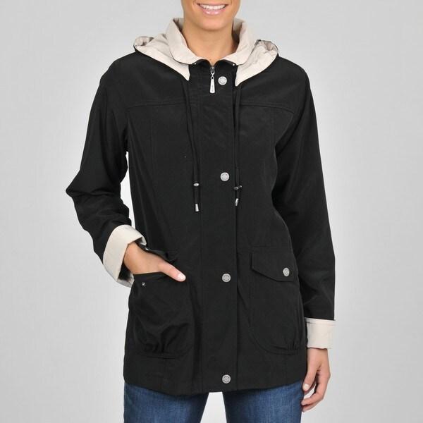 Women's Black Faux Silk Jacket
