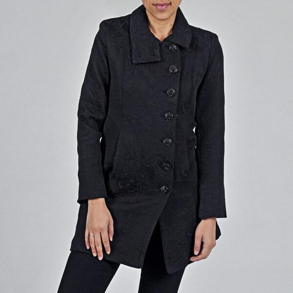 Women's Plus Black Cotton/ Poly Short Coat