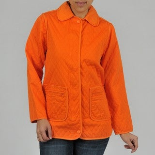 Women's Quilted Denim Jacket