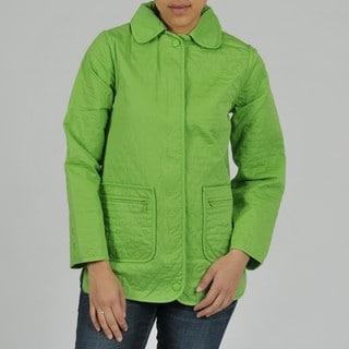 Women's Quilted Denim Jacket