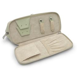 Morelle 'Rachel' Green Leather Cosmetic/ Jewelry Case - Thumbnail 2