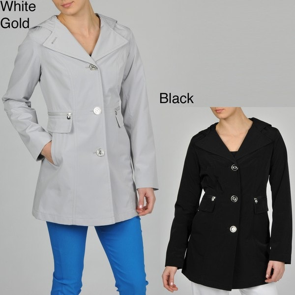 Esprit Women's Faux Silk Hooded Walker Jacket