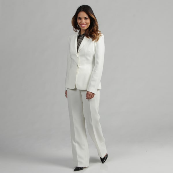 Tahari Women's Cloud Single-breasted Pant Suit