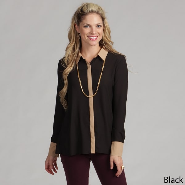 Calvin Klein Women's Hidden Button Top