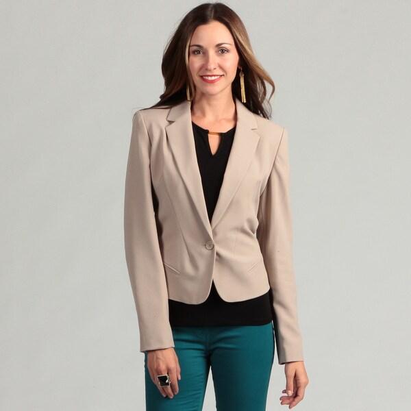 Calvin Klein Women's Long Sleeve 1 Button Blazer