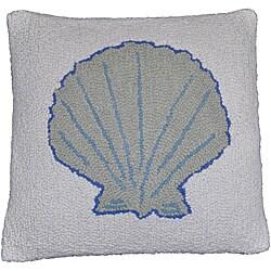 Sea Shell Wool Hooked Decorative Pillow