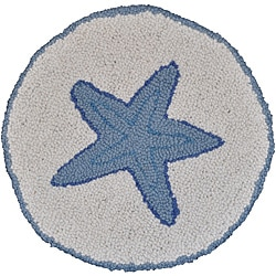 Starfish Wool Hooked Chair Pad