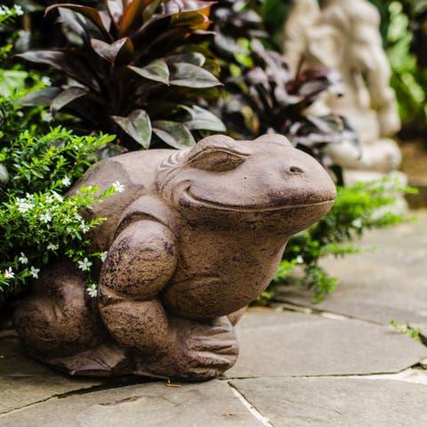 Handmade Volcanic Ash Toad Statue (Indonesia)