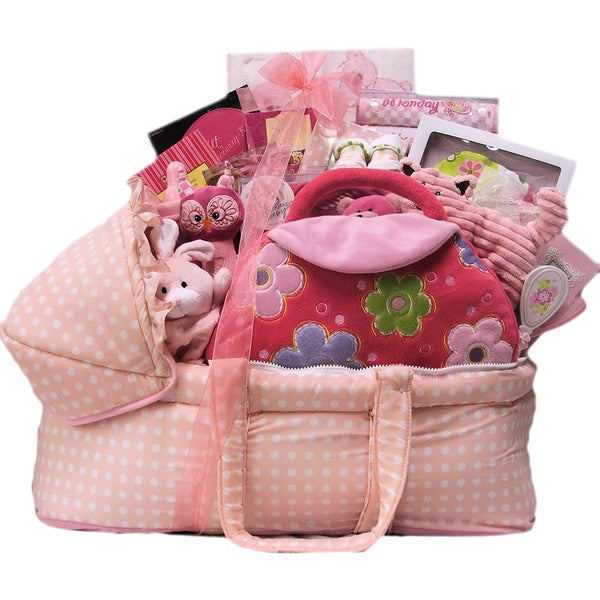 Great Arrivals Best Wishes Baby Girl Gift Basket. Opens flyout.