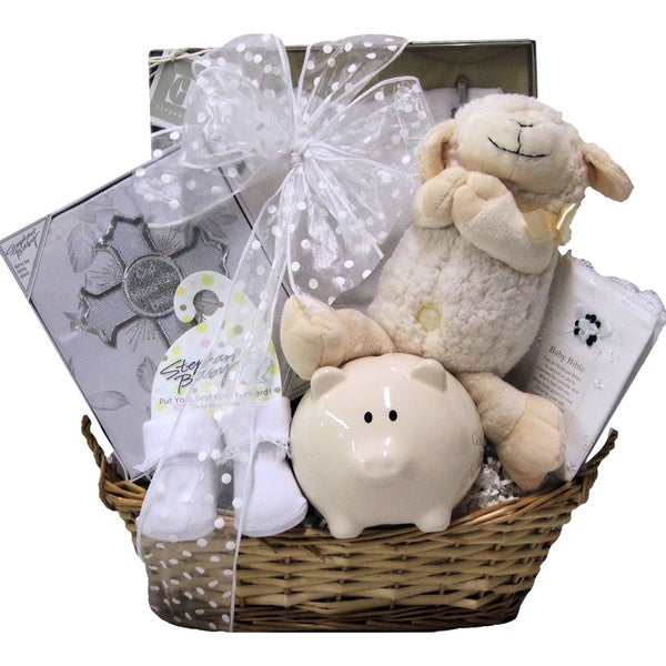 Great Arrivals Bless This Baby Girl Christening Gift Basket