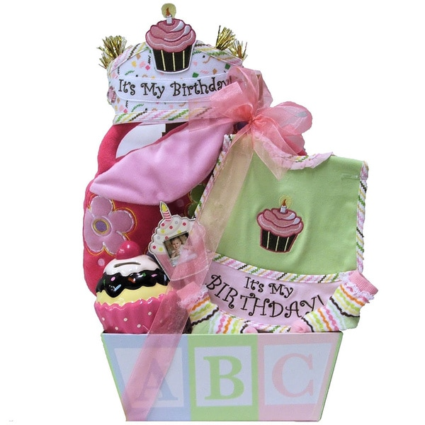 Shop Great Arrivals Babys 1st Birthday Baby Girl Gift Basket
